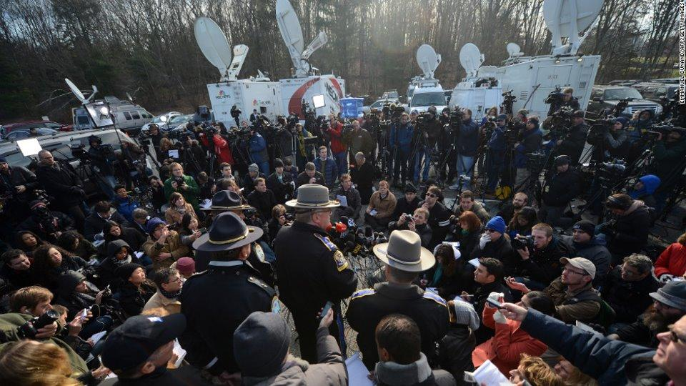 Sandy Hook Media Scrum