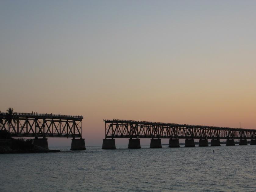broken rail bridge by bahia honda